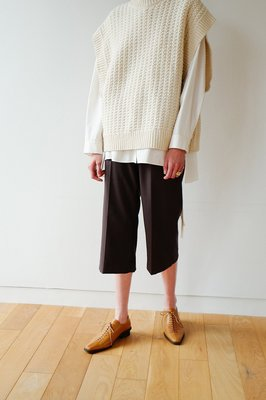 【預購】日本連線CLANE冬19新入荷SLACKS HALF PANTS綺麗目なストレートシルエットとなり西裝七分褲