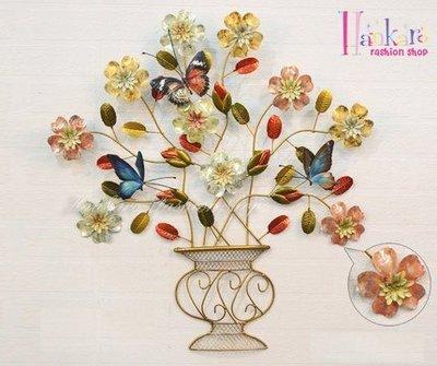 ☆[Hankaro]☆ 浪漫歐式鐵藝半立體效果奢華高貴牆壁掛飾(特小尺寸)