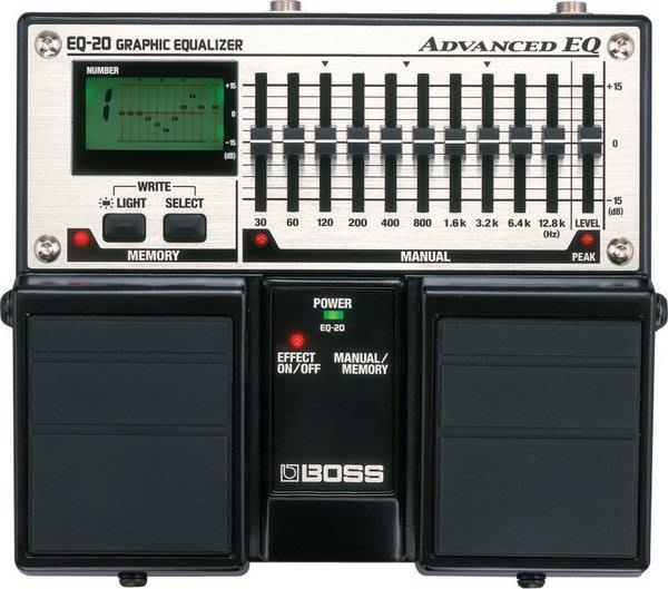 ☆ 唐尼樂器︵☆全新 BOSS EQ-20 民謠吉他/電吉他十段等化效果器 多模組 專業現場 演出 EQ