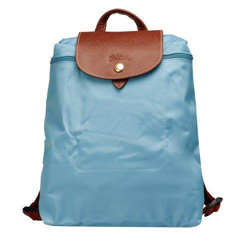 蘇菲亞-巴黎 Longchamp2018秋冬 摺疊款 拉鍊後背包  (極地藍)~ 現貨特價