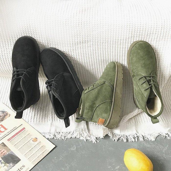 999雪靴 靴子 马丁靴 中靴冬季新款英倫復古風磨砂雪地靴時尚百搭厚底單鞋休閑原宿女鞋
