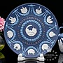 【吉事達】稀有罕見 Wedgwood Jasper 四色波特藍碧玉浮雕1969~1978年限量十週年紀念大飾盤