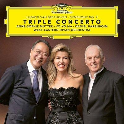 貝多芬:三重協奏曲、第七號交響曲 / 慕特&馬友友&巴倫波英---4838242