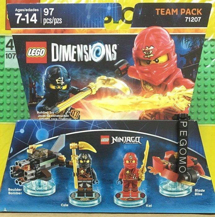 【痞哥毛】LEGO 樂高 71207 Ninjago Cole and Kai 旋風忍者 人偶 全新未拆