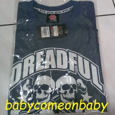 衣服 BTC 短袖 T恤 SIZE S號 灰色 DREADFUL (全新附吊牌) 原價490元