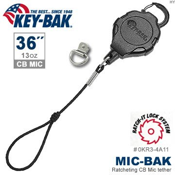 "【EMS軍】美國KEY BAK MIC-BAK系列36"" 鎖定伸縮繫繩-Mic耳麥 (附扣環)-(公司貨)"