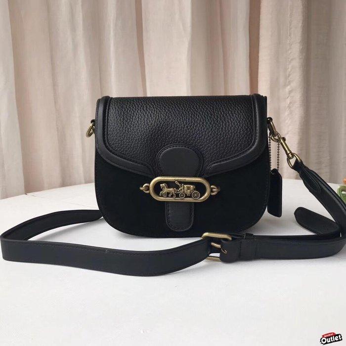 【全球購.COM】COACH 31113 新款elle saddle bag 肩/斜背包 黑色 美國代購
