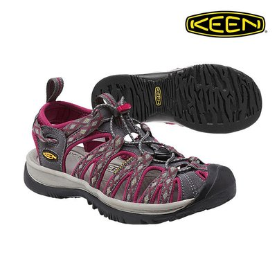 =CodE= KEEN WHISPER SANDALS 編織彈性綁繩護趾防水包頭涼鞋(紫灰) 1014204 拖鞋 女
