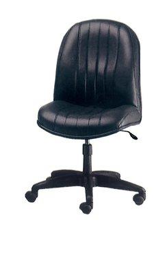 【南洋風休閒傢俱】辦公家具系列-黑皮氣壓無手辦公椅 辦公書桌椅 (金633-6)