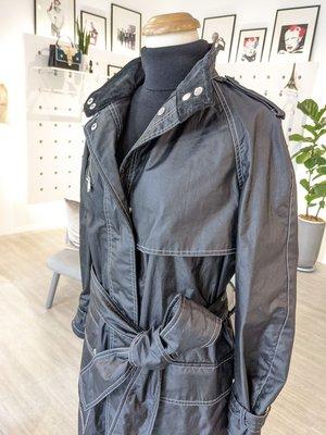 [ RainDaniel ] BELSTAFF 英國百年輕奢品牌 黑棉立領 長版風衣/外套
