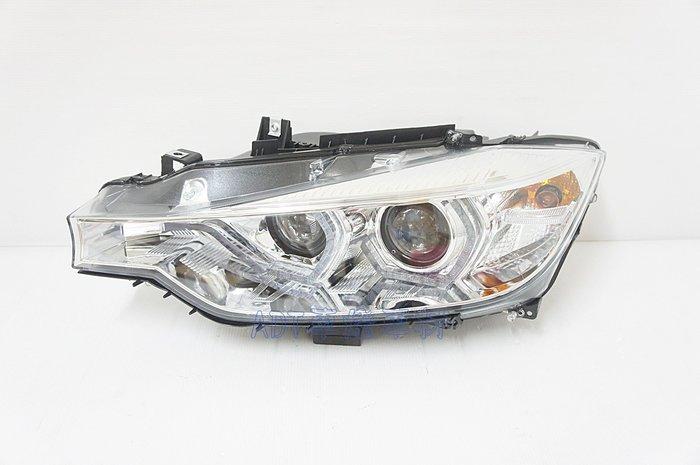 ~~ADT.車燈.車材~~BMW F30 12 13 14 15 類LCI 小改款 雙U LED日行燈 銀底雙魚眼大燈