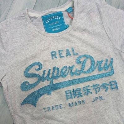 6610 E4 立體字 極度乾燥 T恤 短T 短袖 superdry 短袖 女款 上衣 土耳其製