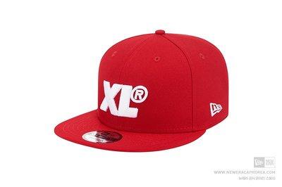 【Easy GO 韓國潮牌代購】NEW ERA x X-LARGE 平簷式後扣棒球帽(紅色)