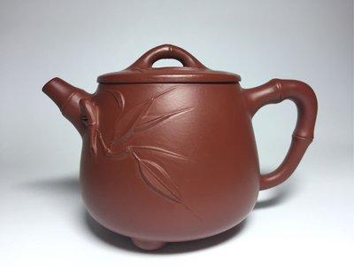 紫砂壺~竹節高石瓢~大紅袍~