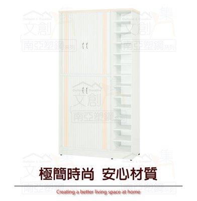 【綠家居】多比 環保3.3尺南亞塑鋼捲簾推門鞋櫃/收納櫃