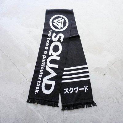 【車庫服飾】SQUAD 大LOGO 防寒圍巾