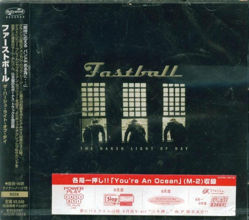 K - Fastball - The Harsh Light Of Day - 日版 +2BONUS - NEW