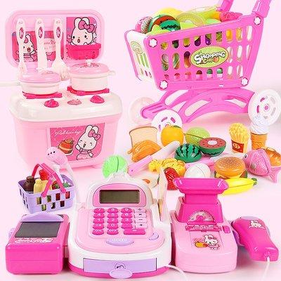 【berry_lin107營業中】兒童超市收銀機仿真刷卡機收銀臺推車過家家廚房女孩玩具3-6周歲