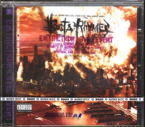 ◎1998全新CD未拆!嘻哈狂人巨星-巴斯達韻-Busta Rhymes-世紀末之毀滅專輯-等19首好歌