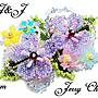 J&J精品~與妳同心~SWAROVSKI水晶珠寶編織立體花葉兩段式髮夾~粉紫款