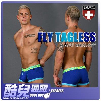 美國 Andrew Christian 飛行系列赤裸囊袋四角褲 皇家藍 Fly Tagless with Almost