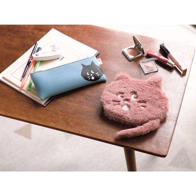 ☆Juicy☆日本雜誌附錄 Ne-net 黑貓 貓咪 絨毛 化妝包 收納包 收納袋 小物包 筆袋 手拿包 7326