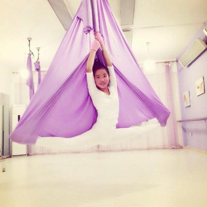 重力瑜伽吊床空中瑜伽吊床吊繩瑜珈吊帶伸展帶輕薄彈力帶子 【優の館】
