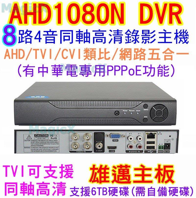 MAX安控-DIY首選AHD DVR8路4聲類比AHD-NH 網路NVR高清1080P畫面監控主機手機遠端監控HDMI輸