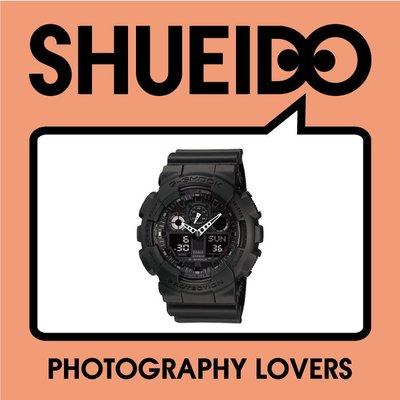 集英堂写真機【全國免運】【現貨】歐版 CASIO 卡西歐 G-SHOCK GA-100-1A1 ER 手錶 黑色 台北市
