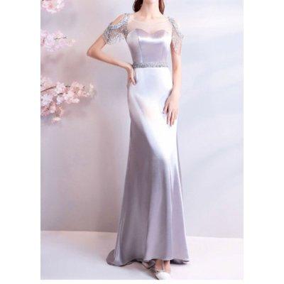 (45 Design) 高雄最便宜訂製禮服區.公主新娘婚紗禮服齊地蓬蓬顯瘦.商品編號A4