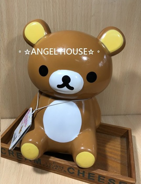 。☆ANGEL HOUSE☆。日本進口**San-x 懶懶熊**懶熊坐姿收納筒919