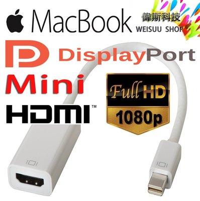 ☆偉斯科技☆蘋果 Mac book專用 Mini DisplayPort  轉HDMI 轉換器 螢幕轉接器  現貨中