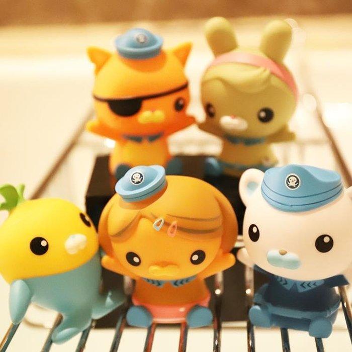 [可開發票]海底小縱隊捏捏叫噴水戲水洗澡玩具嬰幼兒童寶寶漂浮軟膠 【格調】