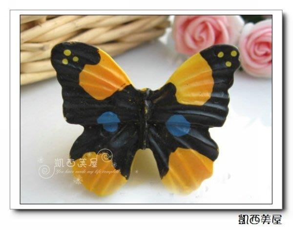 凱西美屋 浪漫甜美黑蝴蝶手把 田園把手 蝴蝶拉手 LS25