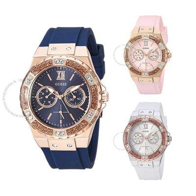 【換日線】Guess 玫瑰金色調多功能手錶 藍色U1053L1/白色U1053L2/粉色U1053L3