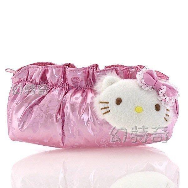 現貨出清特價👍寵物貓charmmy kitty粉色花邊筆袋化妝包收納包604113【玩之內】日本進口三麗鷗正品