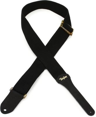 《民風樂府》美國 Taylor吉他 原廠精品GSM200-06黑色 優質棉帆布背帶 2019年新款 現貨在庫