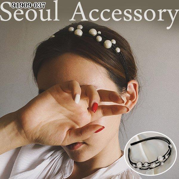 首爾飾集 正韓國製 官網款 大小珍珠星球多層次髮圈髮箍91909-037