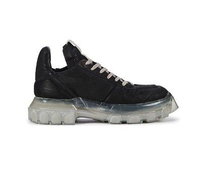 [全新真品代購-F/W20 新品!] Rick Owens 黑色皮革 厚底鞋 / 休閒鞋 (TRACTOR)