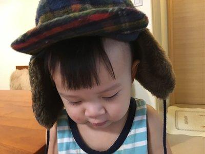 Jacadi飛行帽 6m-2歲嬰兒毛帽