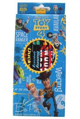 【卡漫迷】 玩具總動員 木頭 鉛筆12入組 ㊣版 圓桿 Toy Story 4 文具 胡迪 牧羊女 三眼怪 迪士尼