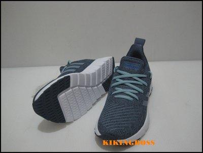 【喬治城】ADIDAS 女款 休閒運動 慢跑鞋 (灰藍色)F36320