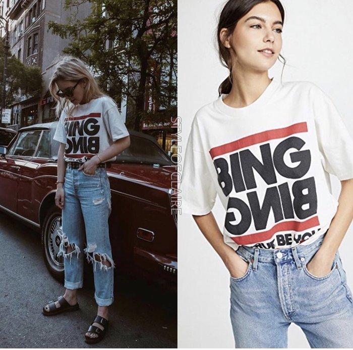 【代購】熱賣 Anine Bing 文字印刷 短袖 T恤 上衣