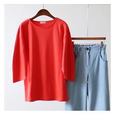 漂亮~簡約半月袖T恤~3色【kr6232】