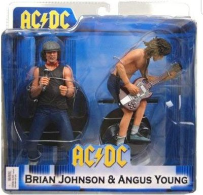 AC/DC Angus Young & Brian Johnson NECA Action Figure 2-Pack Set