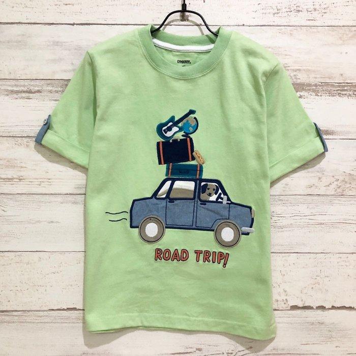 Maple麋鹿小舖 美國購買童裝品牌 GYMBOREE  男童綠色車車圖樣短T * ( 現貨4T )