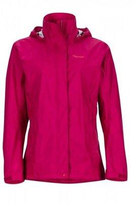【Marmot】『零碼出清』46200-6119 酒紅色 美國 女 PreCip 土撥鼠 防水外套 類GORE-TEX