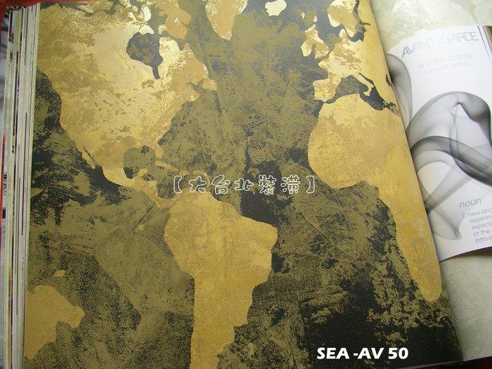 【大台北裝潢】美國Seabrook進口壁紙AV* Galileo 藝術潑墨風色塊(3色)