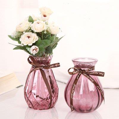 [C.M.平價精品館]新品特價/品味生活鑽石紋閃耀創意彩色透明玻璃花瓶