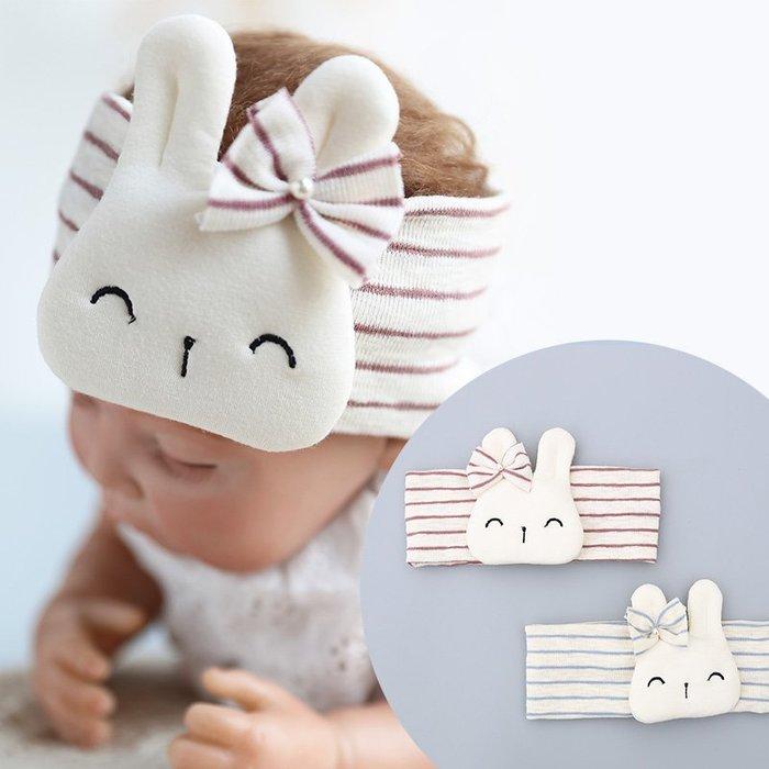 現貨~B63新款兒童髮帶  小兔棉布保暖寬髮帶 嬰兒髮帶☆草莓花園☆